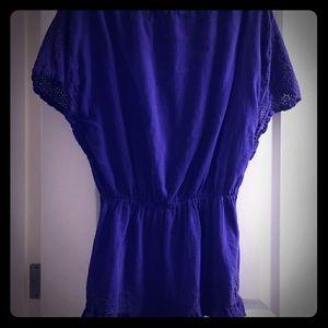 Beach cotton blouse